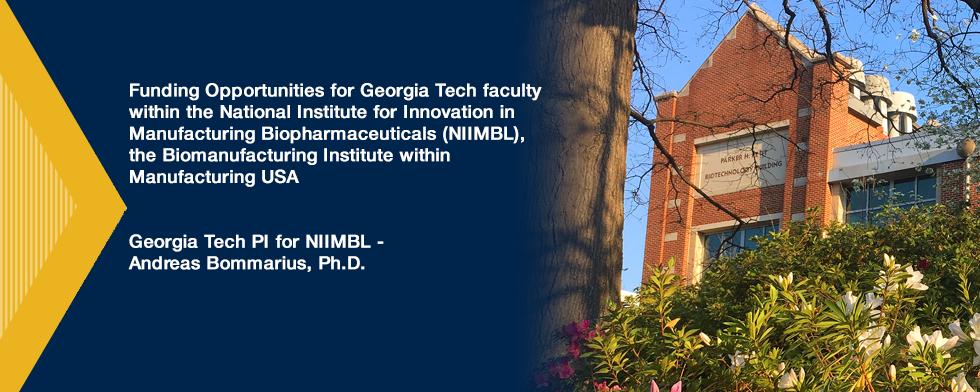 Georgia Tech PI for NIIMBL - Andreas Bommarius, Ph.D.